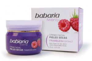 Babaria Aloe Vera & Raspberry Face Cream for Dry Skin 50ml | Mia Beauty Ltd
